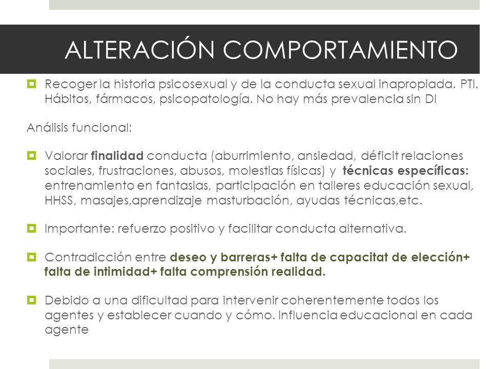ALTERACIÓN COMPORTAMIENTO