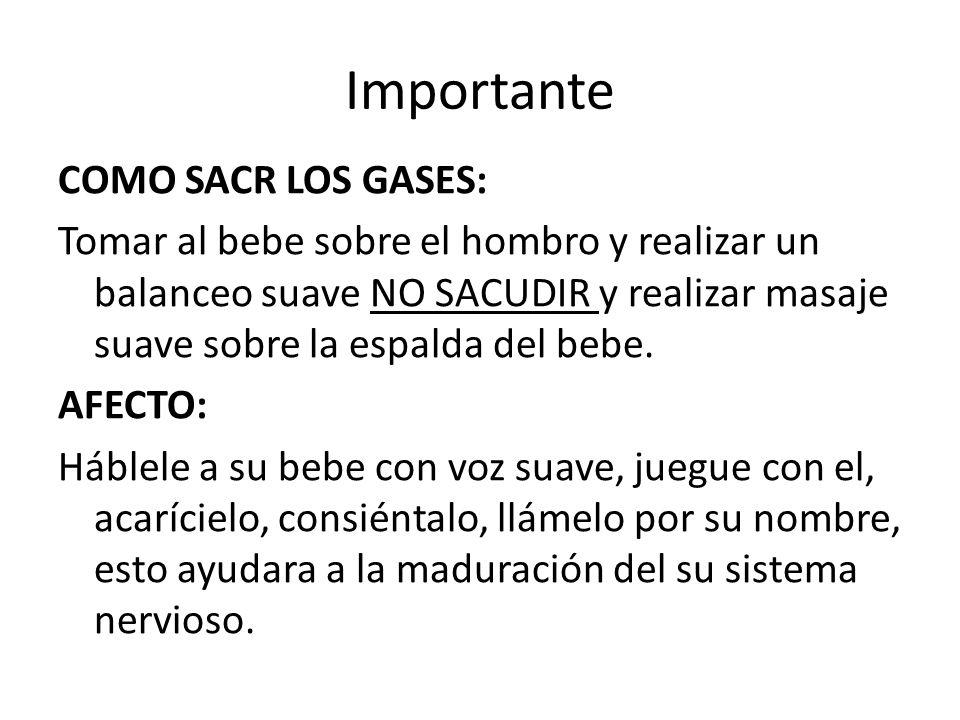 Importante COMO SACR LOS GASES: