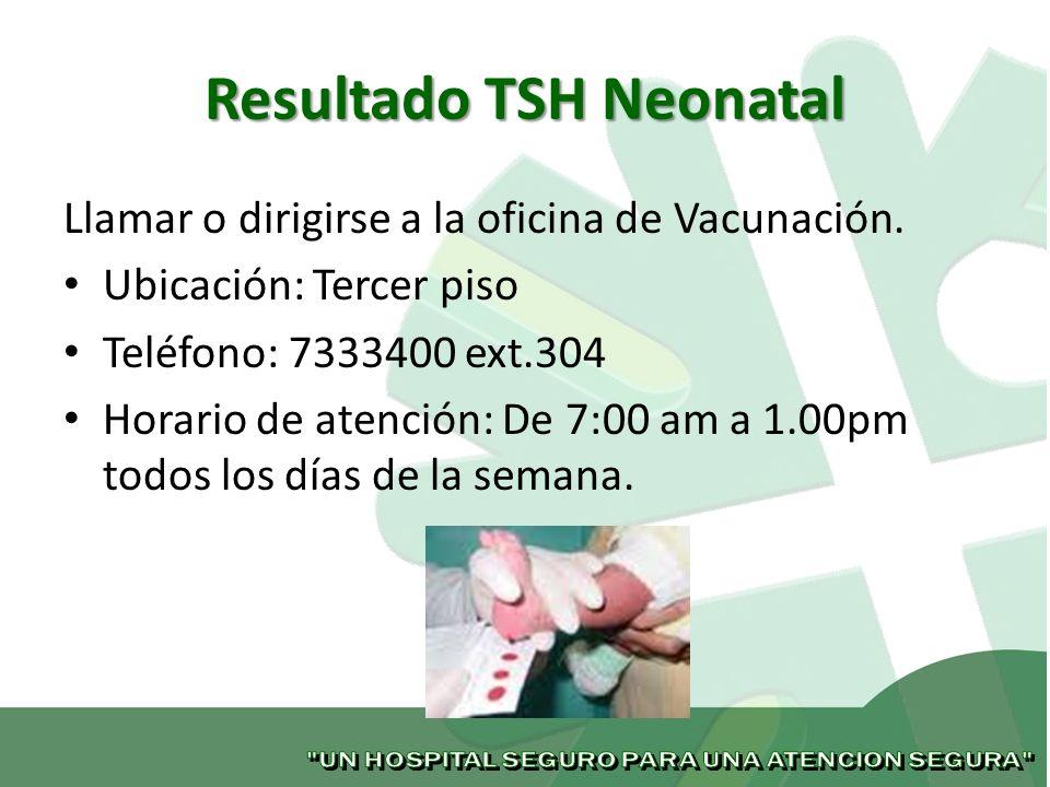 Resultado TSH Neonatal
