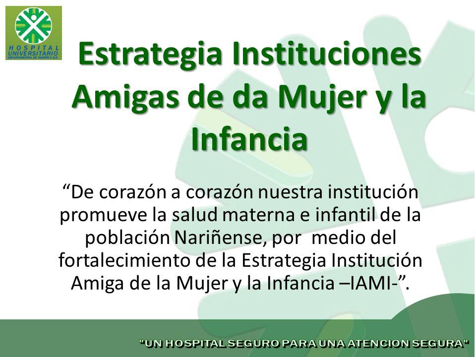 Estrategia Instituciones Amigas de da Mujer y la Infancia