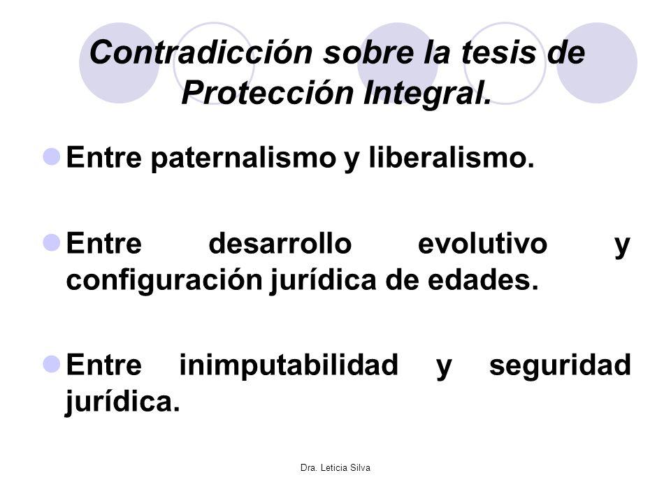 Contradicción sobre la tesis de Protección Integral.