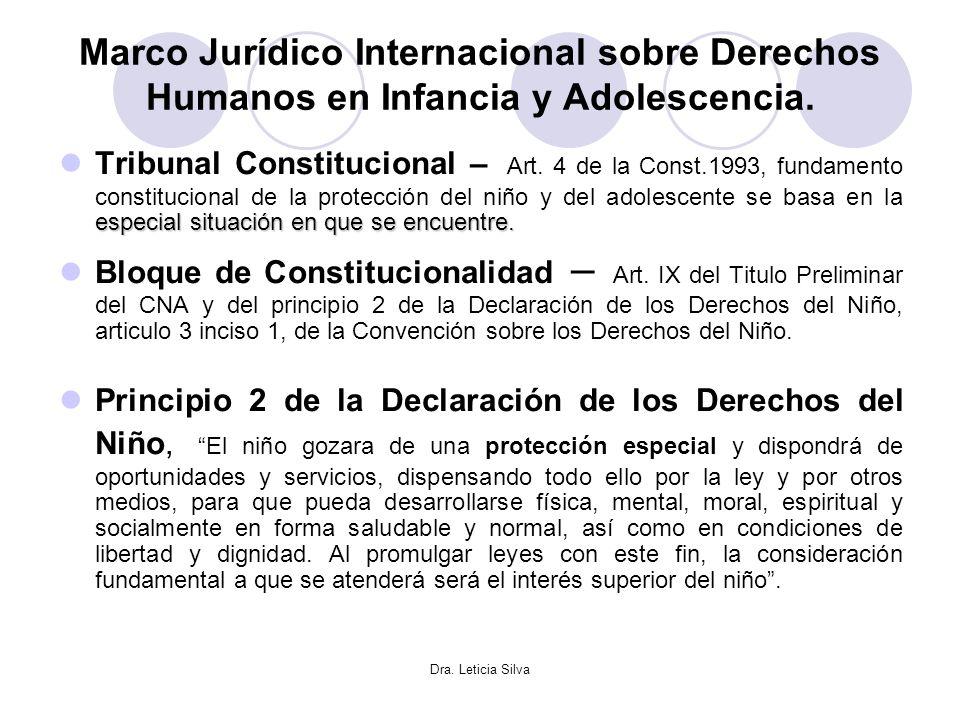 Marco Jurídico Internacional sobre Derechos Humanos en Infancia y Adolescencia.