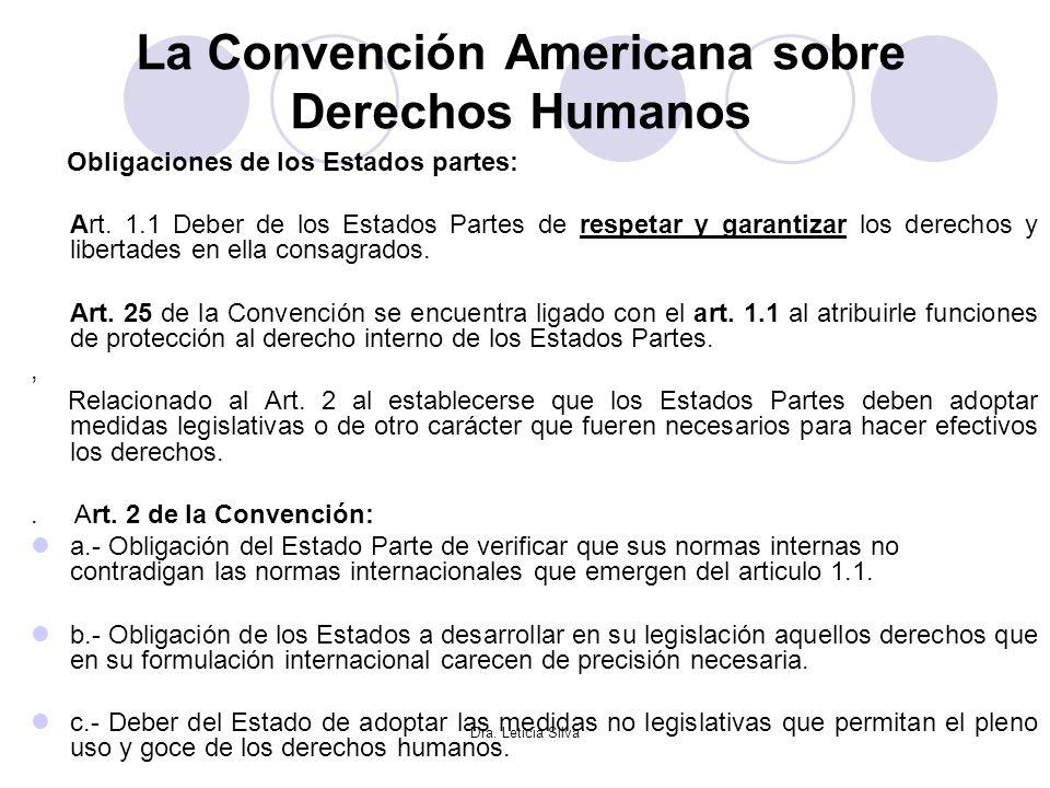 La Convención Americana sobre Derechos Humanos