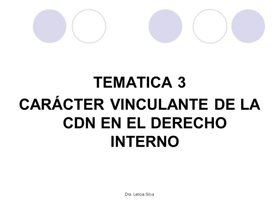CARÁCTER VINCULANTE DE LA CDN EN EL DERECHO INTERNO