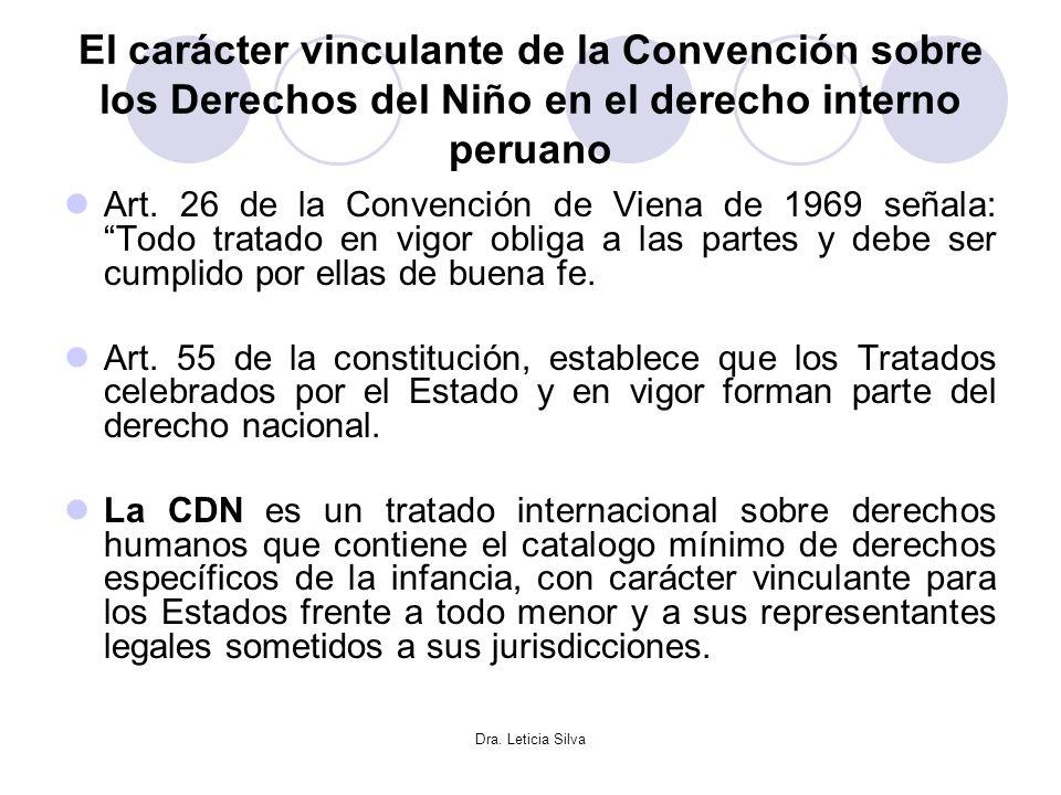El carácter vinculante de la Convención sobre los Derechos del Niño en el derecho interno peruano