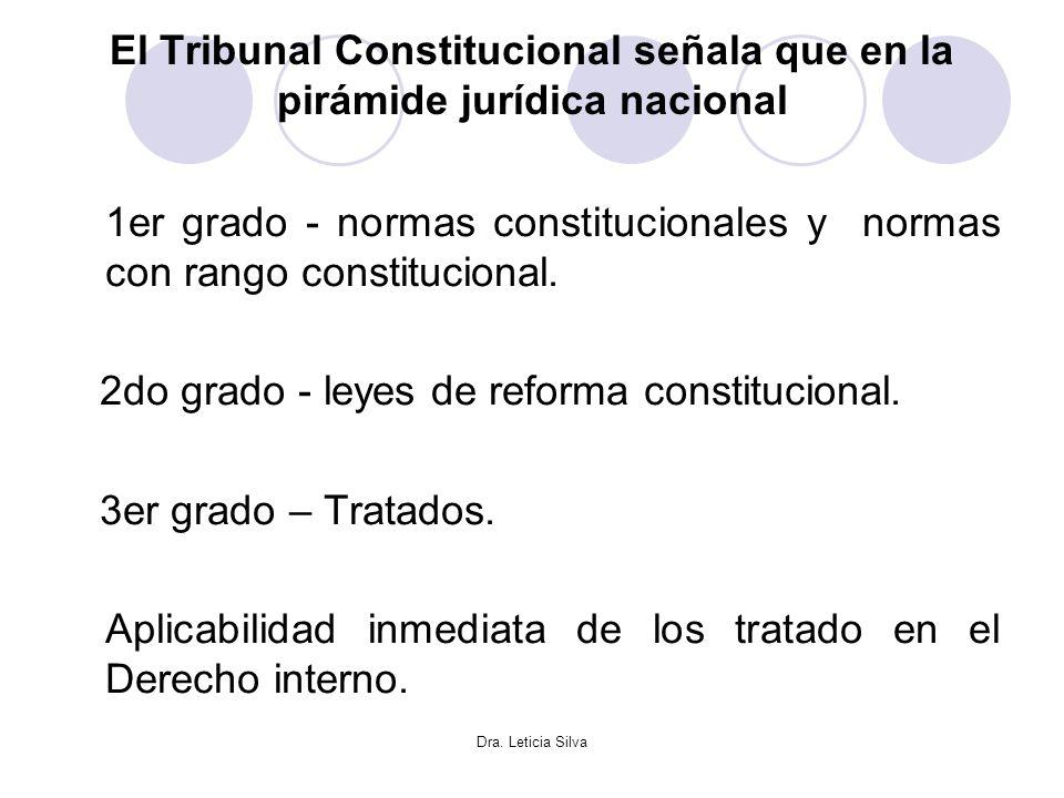 El Tribunal Constitucional señala que en la pirámide jurídica nacional