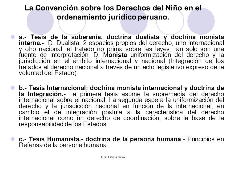 La Convención sobre los Derechos del Niño en el ordenamiento jurídico peruano.