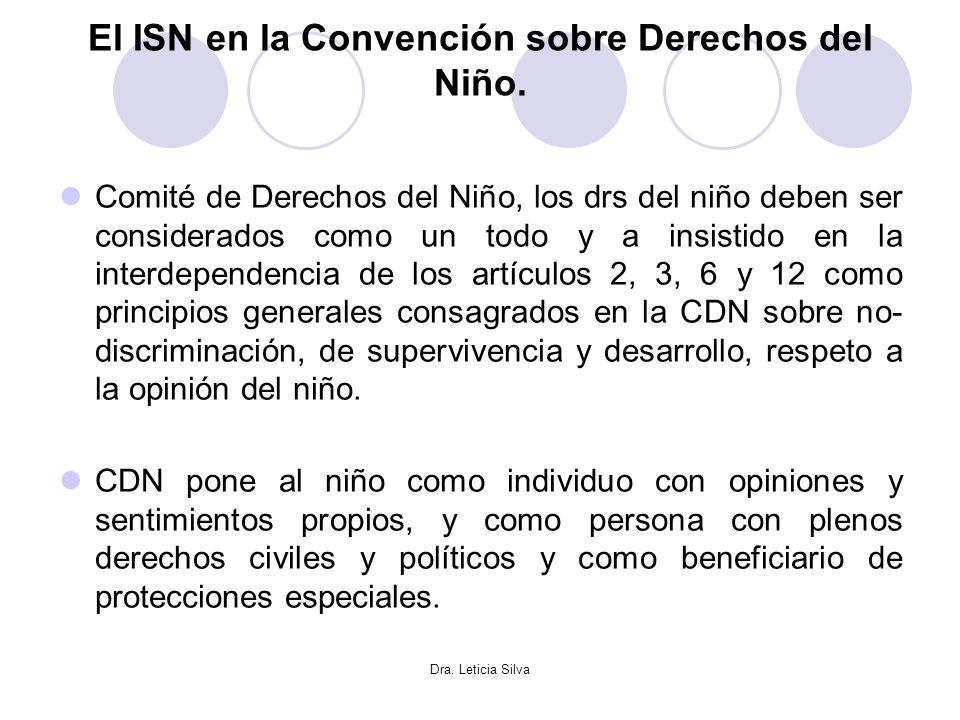 El ISN en la Convención sobre Derechos del Niño.