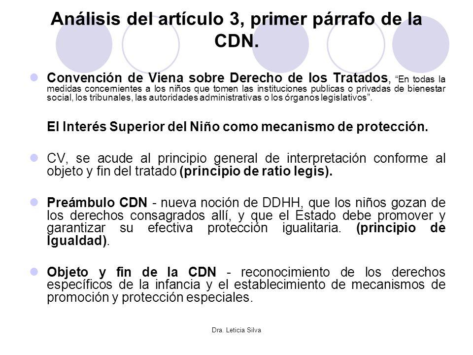 Análisis del artículo 3, primer párrafo de la CDN.