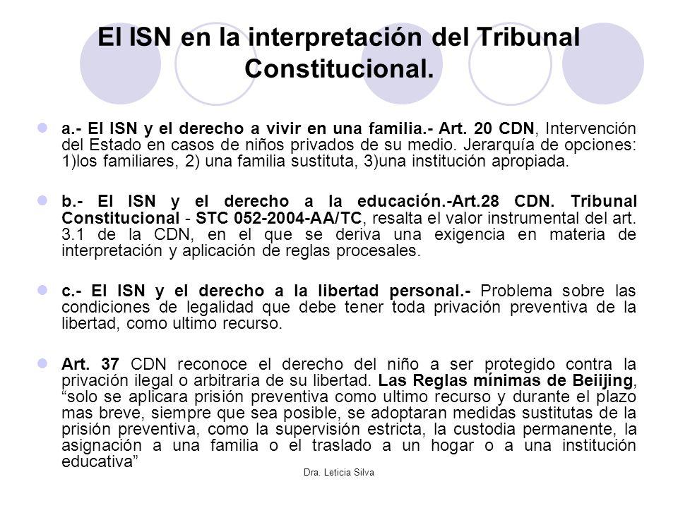 El ISN en la interpretación del Tribunal Constitucional.