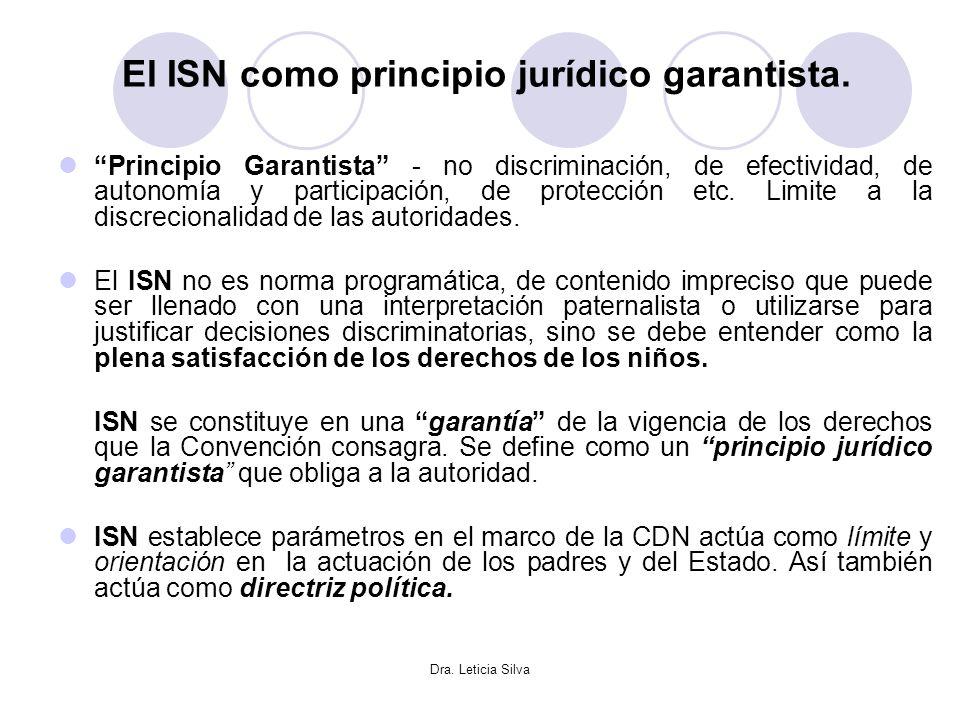 El ISN como principio jurídico garantista.