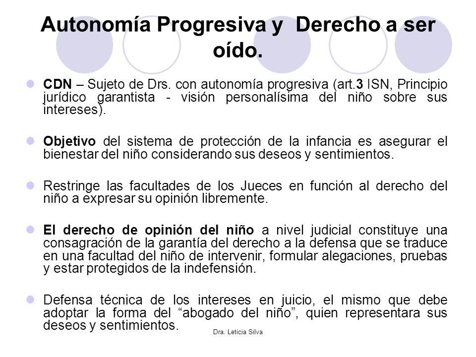 Autonomía Progresiva y Derecho a ser oído.