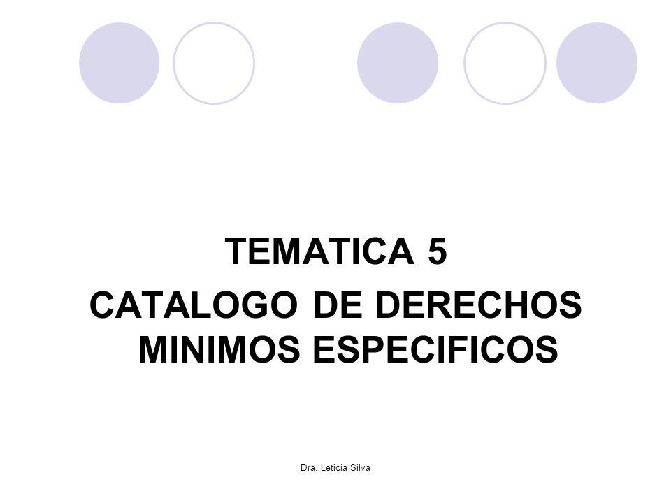 CATALOGO DE DERECHOS MINIMOS ESPECIFICOS