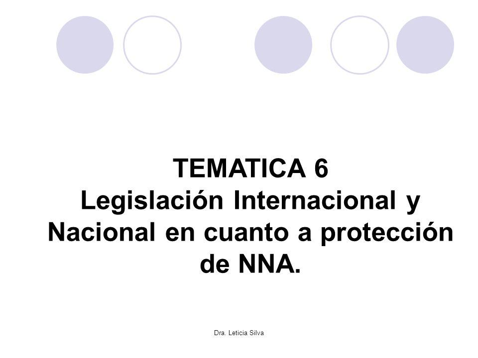 Legislación Internacional y Nacional en cuanto a protección de NNA.