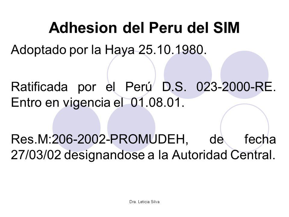 Adhesion del Peru del SIM