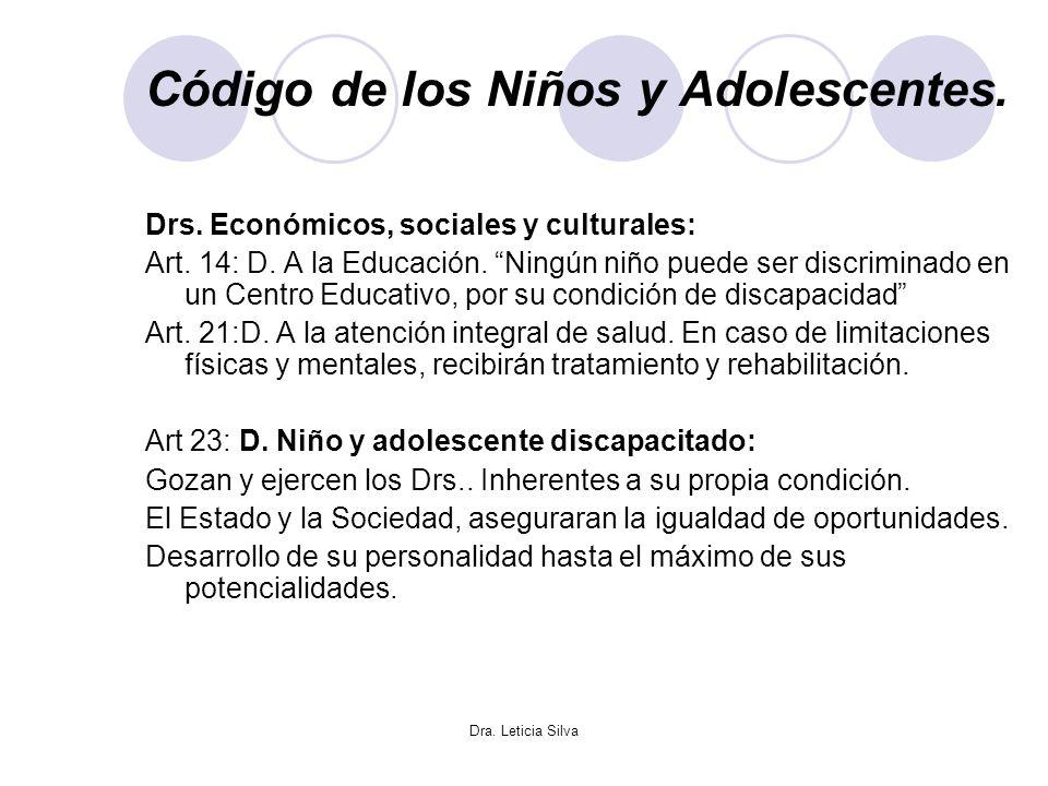 Código de los Niños y Adolescentes.