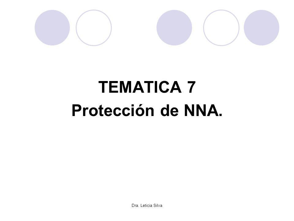 TEMATICA 7 Protección de NNA. Dra. Leticia Silva