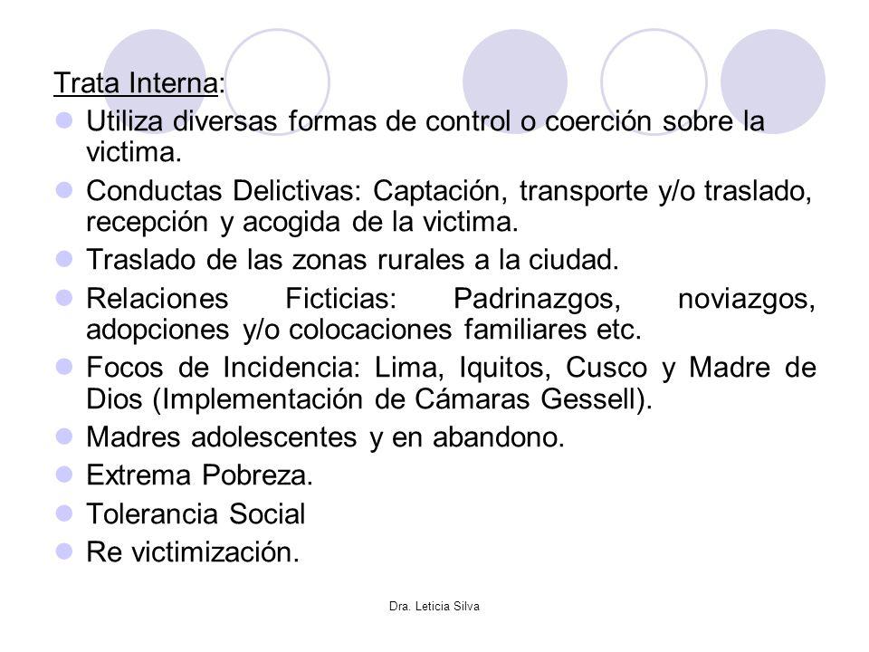 Utiliza diversas formas de control o coerción sobre la victima.
