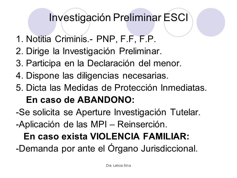 Investigación Preliminar ESCI