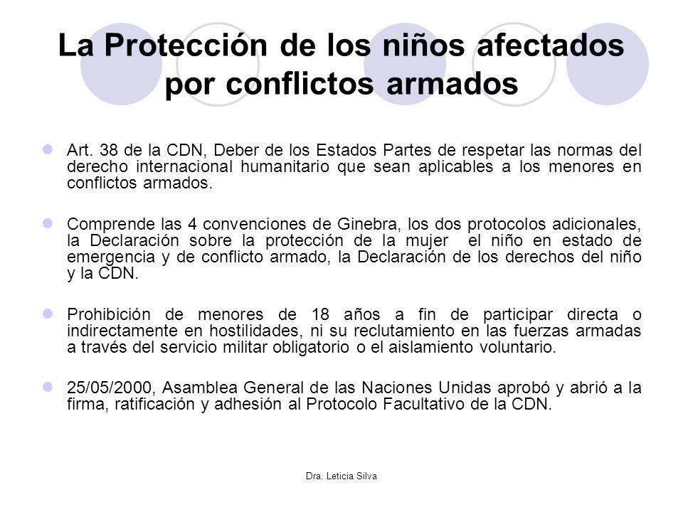 La Protección de los niños afectados por conflictos armados