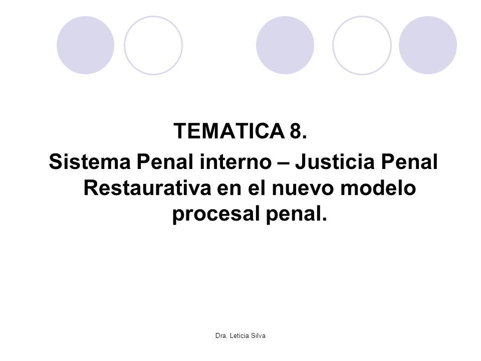 TEMATICA 8. Sistema Penal interno – Justicia Penal Restaurativa en el nuevo modelo procesal penal.
