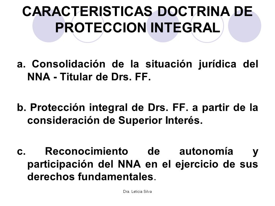 CARACTERISTICAS DOCTRINA DE PROTECCION INTEGRAL