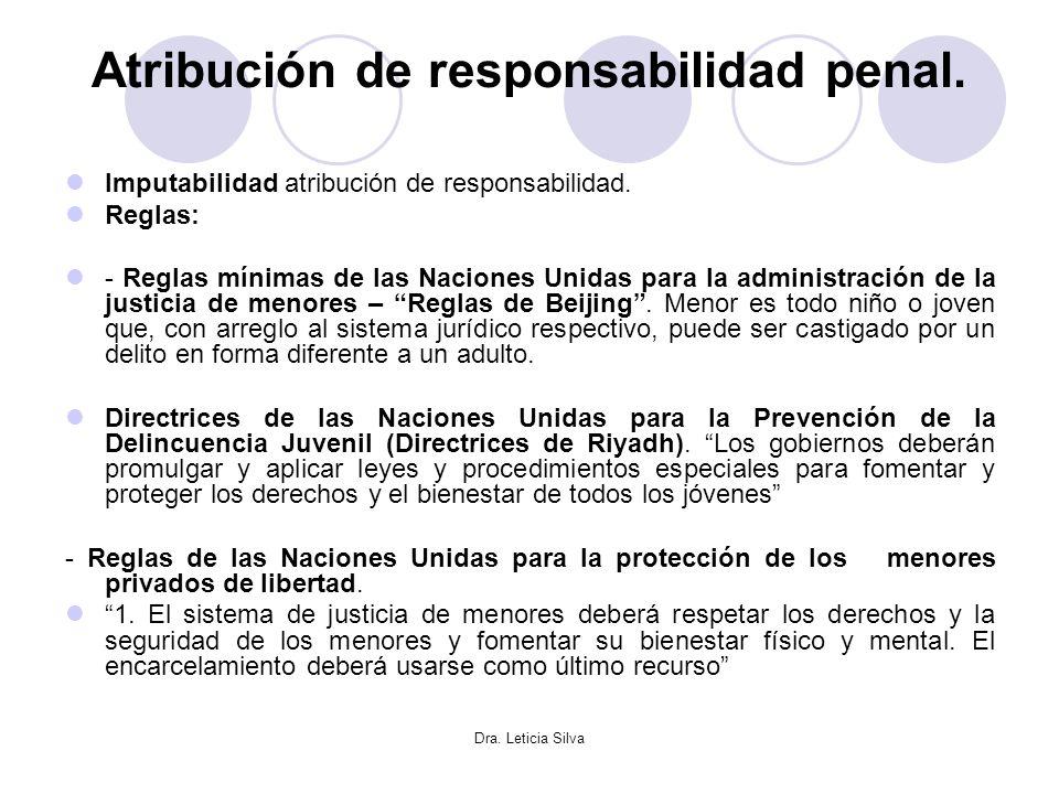 Atribución de responsabilidad penal.