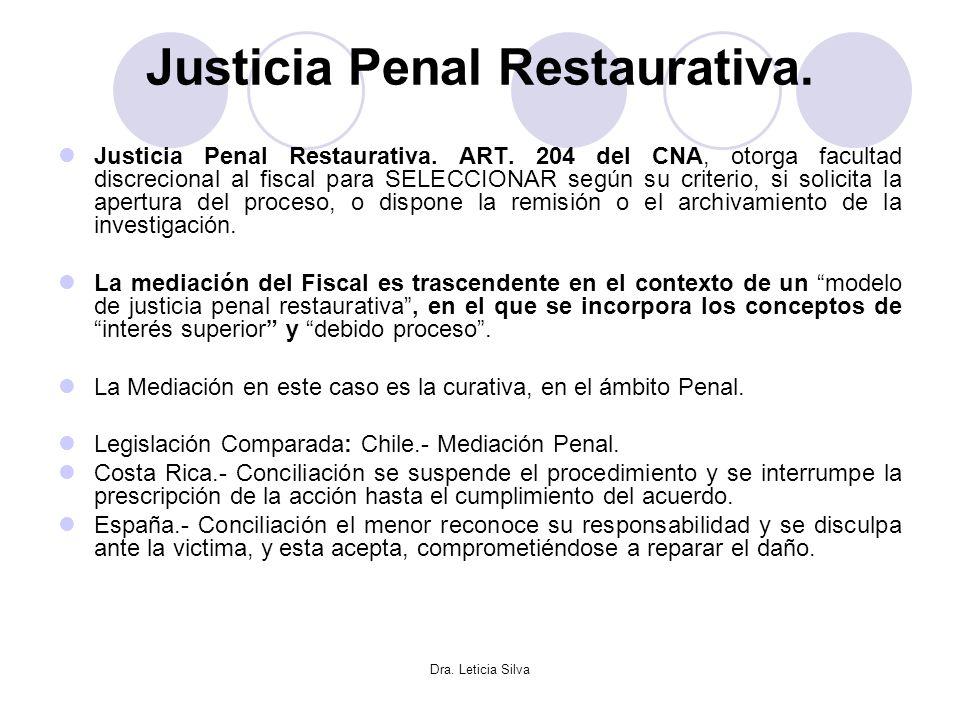 Justicia Penal Restaurativa.