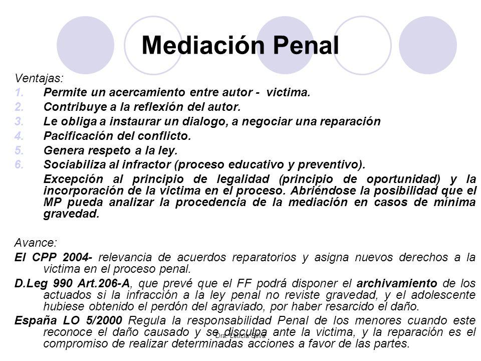 Mediación Penal Ventajas: