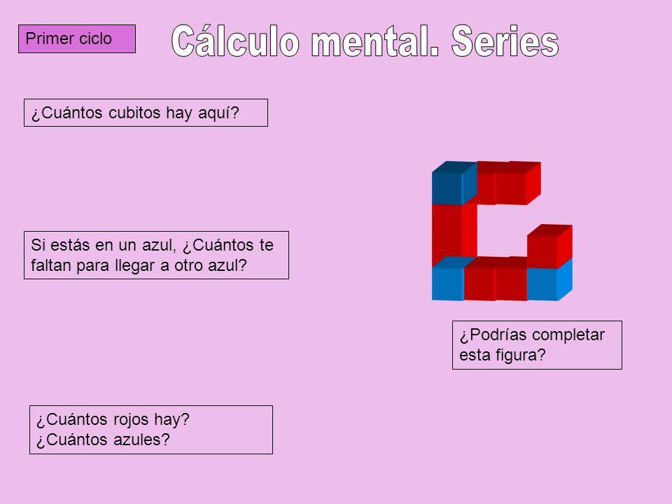 Cálculo mental. Series Primer ciclo ¿Cuántos cubitos hay aquí