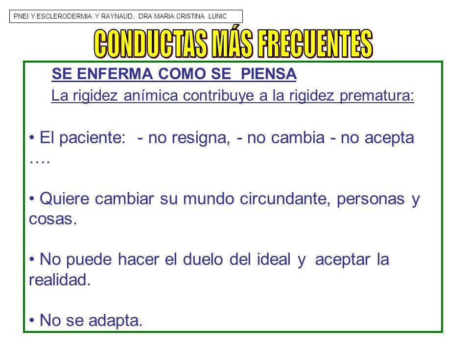 CONDUCTAS MÁS FRECUENTES