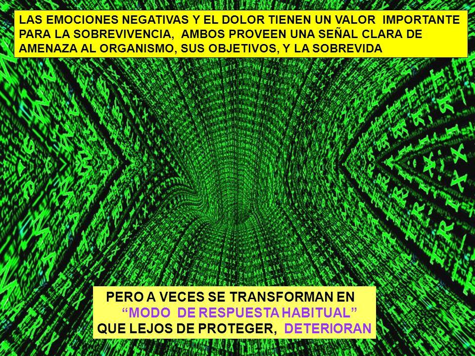 PERO A VECES SE TRANSFORMAN EN MODO DE RESPUESTA HABITUAL