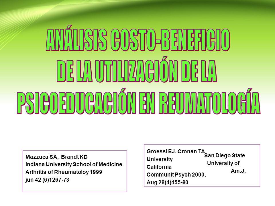 ANÁLISIS COSTO-BENEFICIO DE LA UTILIZACIÓN DE LA