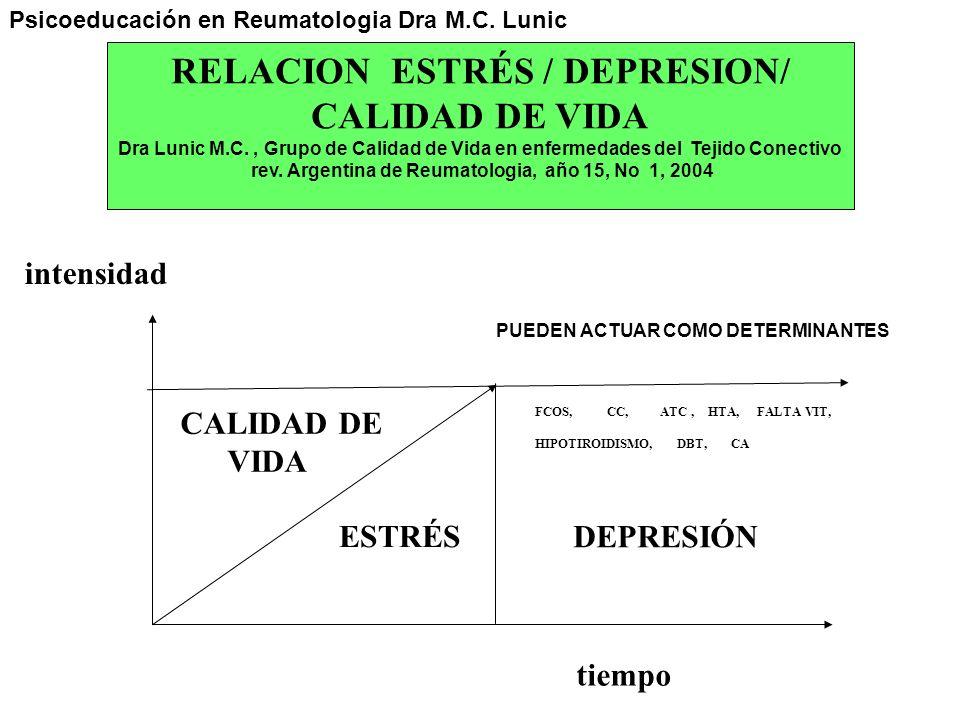 RELACION ESTRÉS / DEPRESION/ CALIDAD DE VIDA