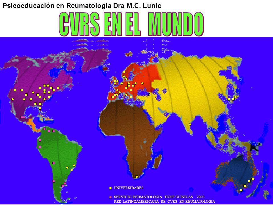 CVRS EN EL MUNDO Psicoeducación en Reumatologia Dra M.C. Lunic