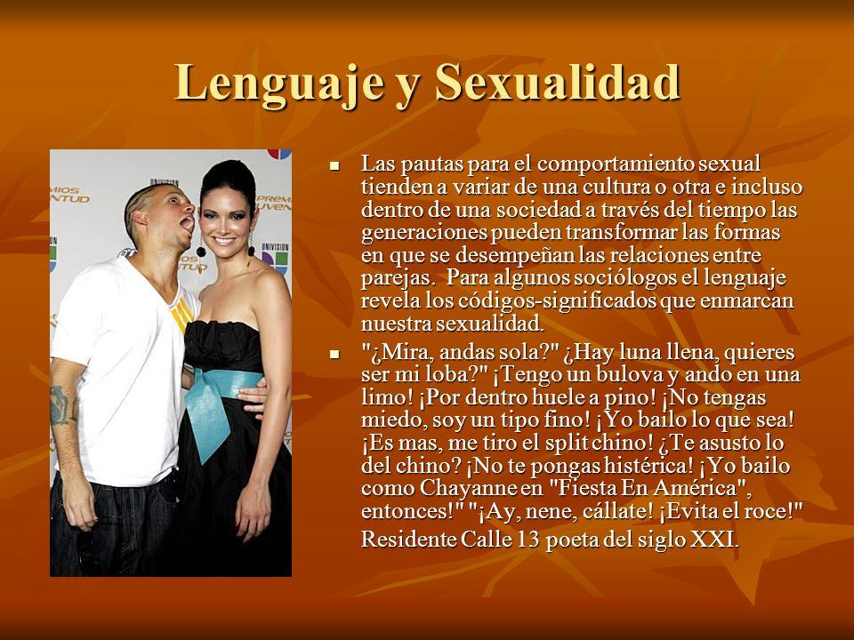 Lenguaje y Sexualidad