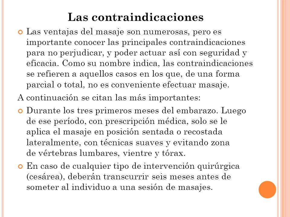 Las contraindicaciones