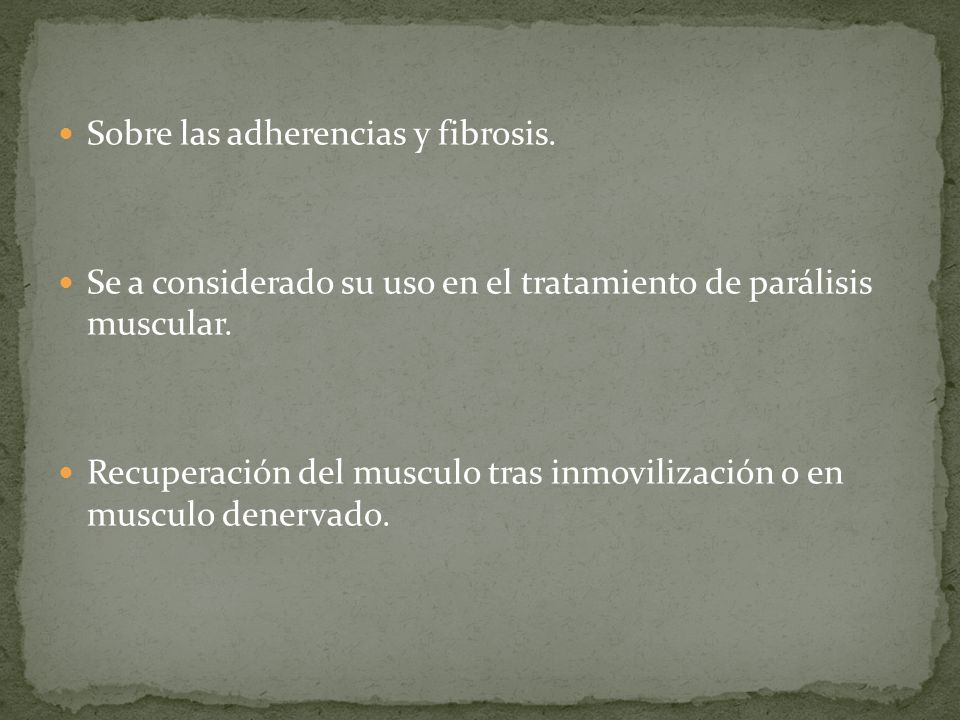 Sobre las adherencias y fibrosis.