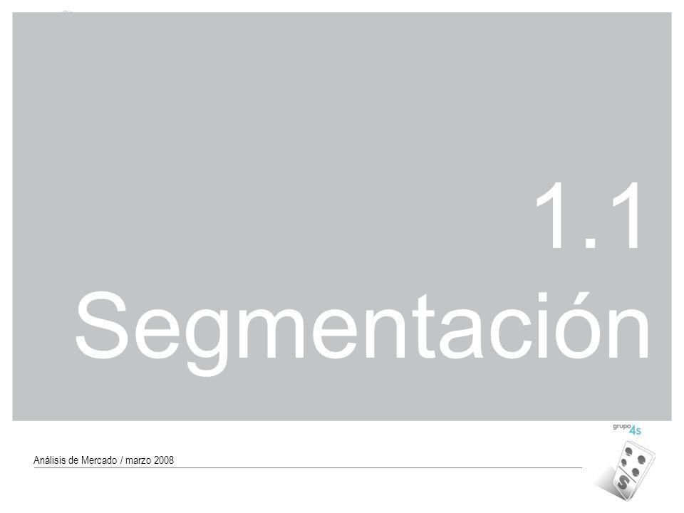1.1 Segmentación Análisis de Mercado / marzo 2008