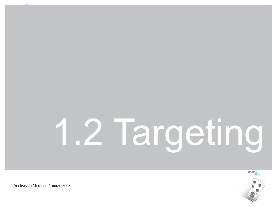 1.2 Targeting Análisis de Mercado / marzo 2008