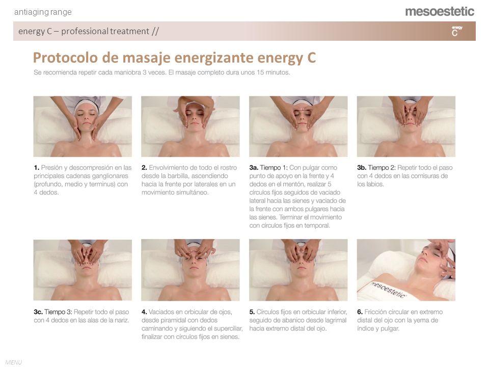 Protocolo de masaje energizante energy C