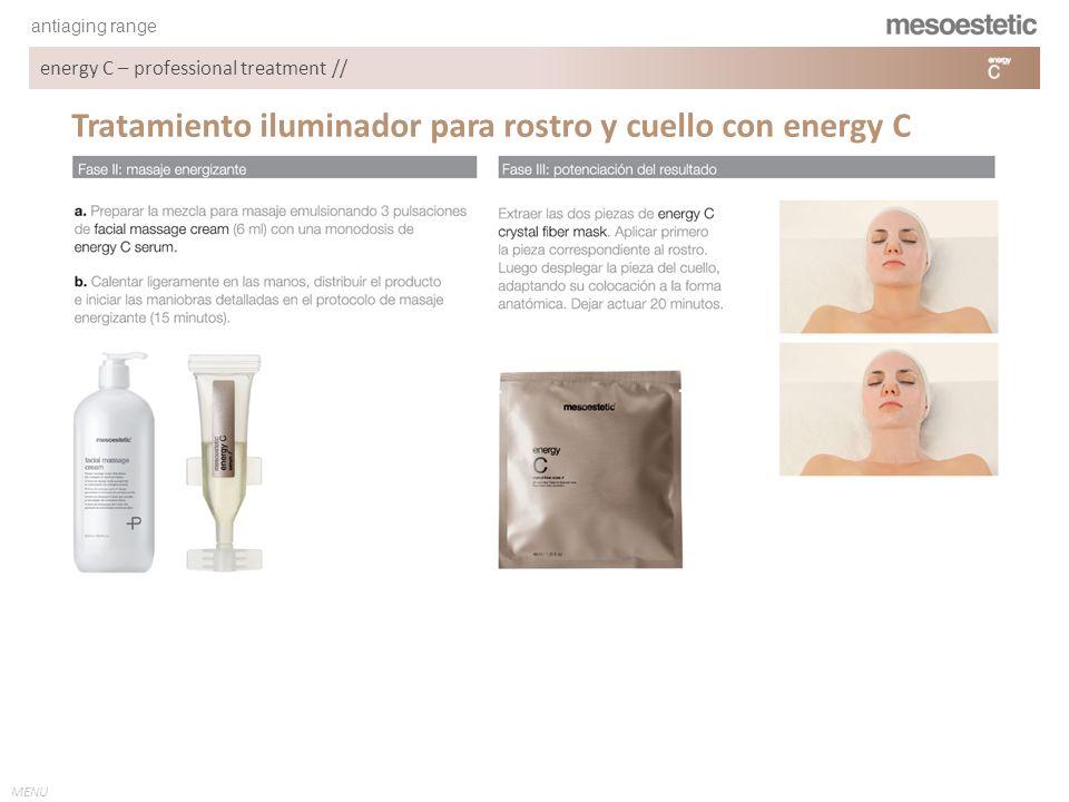 Tratamiento iluminador para rostro y cuello con energy C