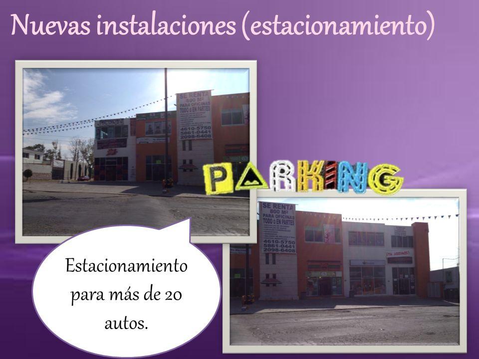 Nuevas instalaciones (estacionamiento)