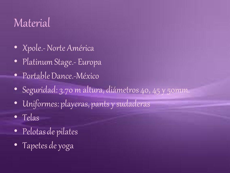 Material Xpole.- Norte América Platinum Stage.- Europa