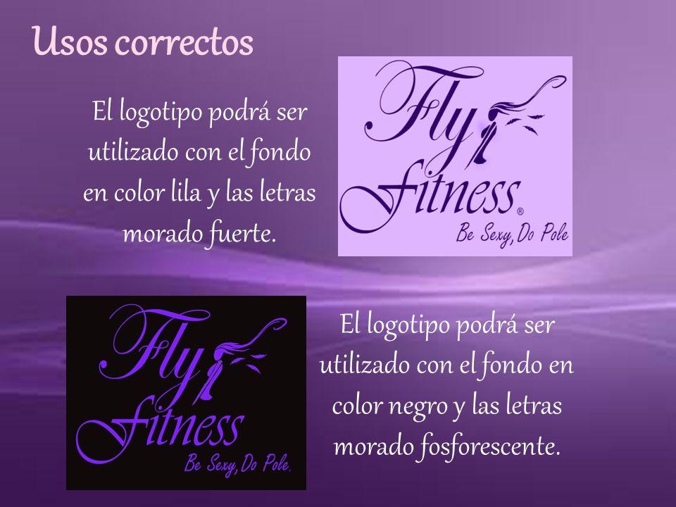 Usos correctos El logotipo podrá ser utilizado con el fondo en color lila y las letras morado fuerte.