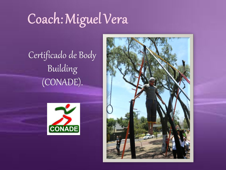 Certificado de Body Building (CONADE).