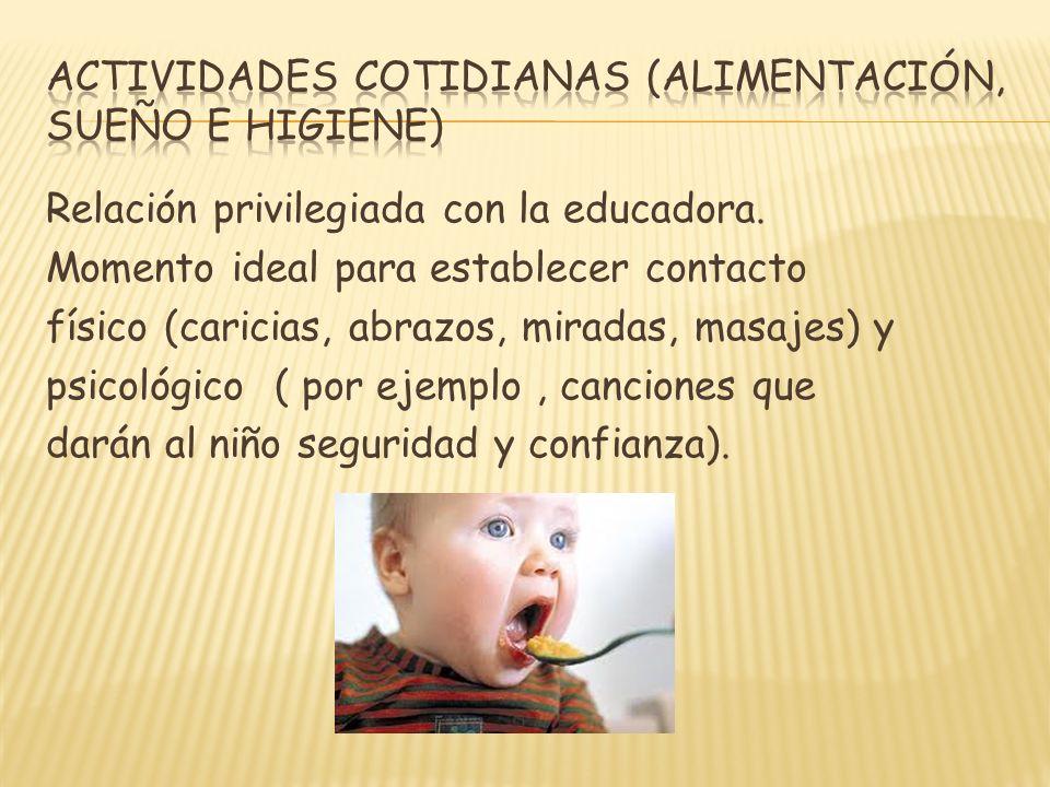 ACTIVIDADES COTIDIANAS (ALIMENTACIÓN, SUEÑO E HIGIENE)