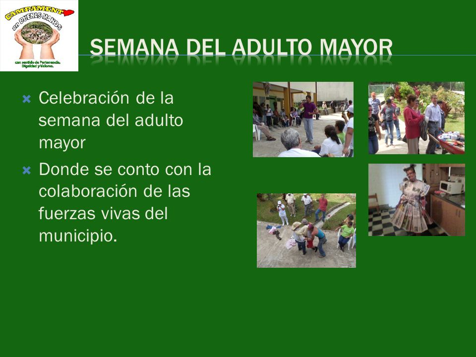 SEMANA DEL ADULTO MAYOR