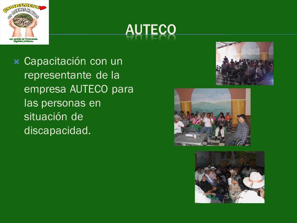AUTECO Capacitación con un representante de la empresa AUTECO para las personas en situación de discapacidad.