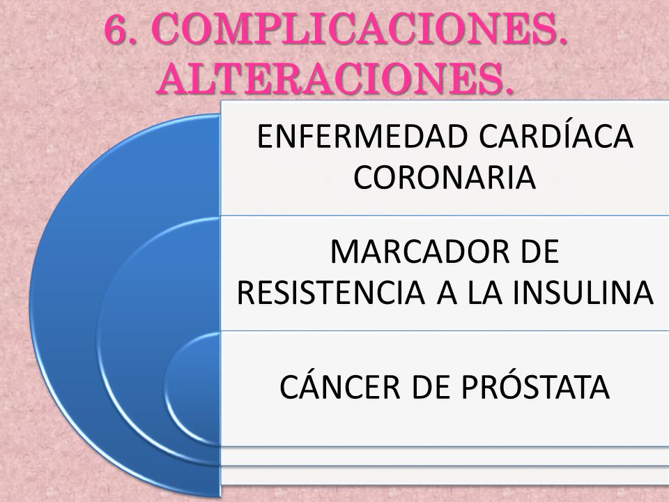 6. COMPLICACIONES. ALTERACIONES.